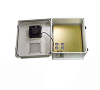 14x12x07 Fiberglass Reinf Polyester FRP Weatherproof Outdoor IP24 NEMA 3R Enclosure, 240 VAC MNT PLT, Mechanical Thermostat Fan Gray -- TEF141207-20F -Image