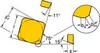 Carbide Milling Insert,SMK 42E2R HM -- 5AZK9