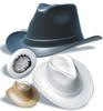 Vulcan Cowboy Hard Hats > COLOR - Black > UOM - Each -- VCB200-B