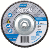 Norton Metal ZA Coarse Arbor Thread Fiberglass Flat Flap Disc -- 66254472672 - Image