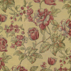 Floral on Slub Ground Fabric -- R-Cecile -- View Larger Image