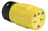 Pass & Seymour® -- Rubber Housing Connector, Yellow - 1548
