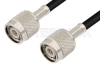 TNC Male to TNC Male Cable 12 Inch Length Using 93 Ohm RG62 Coax -- PE3408-12 -Image