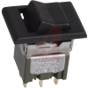 Switch, Rocker, SubMiniature, Snap-In MOUNT,DPDT, ON-NONE-ON -- 70192884 - Image