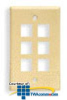 ICC Flush Mount 1 Outlet Modular Faceplate -- ICC-FACE1