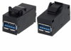 Keystone USB 3.0 Type Female to Female Adapter -- MUS3C00001 -Image