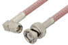 SMA Male Right Angle to BNC Male Cable 24 Inch Length Using RG142 Coax -- PE3780-24 -Image