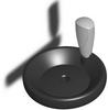 Duroplastic Handwheel w/ Handle - SS Hub - 100mm Dia - 10mm Ream -- 06287-3100X10 - Image