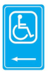 Safety Warning Sign Reflective Aluminum Handicapped -- 75447391352-1 - Image