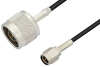 SMA Male to N Male Cable 60 Inch Length Using PE-C100-LSZH Coax -- PE38433-60 -- View Larger Image