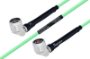 Temperature Conditioned N Male Right Angle to N Male Right Angle Low Loss Cable 18 Inch Length Using PE-P142LL Coax -- PE3M0179-18 -Image
