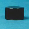 Black Polypropylene Caps with Foam Liner -- 180601