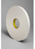 3M 4104 White Single Sided Foam Tape - 1/2 in Width x 18 yd Length - 1/4 in Thick - 67598 -- 021200-67598 -- View Larger Image