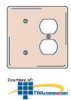 Hubbell 2-Gang Combination Plates Satin Stainless Wallplate -- SS138 - Image