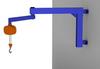 Wall Mounted Articulating Jib Crane, 1000 lb. Capacity -- AJ200-1000 Series