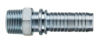 Threaded Male Hose Shank with Interlocking Collar - Image