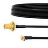 SMA Female Bulkhead to RA MMCX Plug Cable FM-SR086TBJ Coax in 6 Inch -- FMCA2122-6 -Image