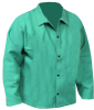 Chicago Protective Apparel Green Large FR-7A Cotton/Proban Welding & Heat-Resistant Coat - 30 in Length - 600-GW LG -- 600-GW LG - Image