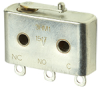 HM Series Hermetically Sealed Basic Switch, Single Pole Double Throw Circuitry, 1 A at 28 Vdc, Integral Lever Actuator, Solder Termination