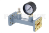 WR-90 Waveguide Pressurizing Section 4.25 Inch Length, CPR-90G Grooved Flange from 8.2 GHz to 12.4 GHz -- PEWSP1008 -Image