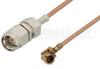 SMA Male to UMCX Plug Cable 18 Inch Length Using RG178 Coax -- PE38881-18 -Image