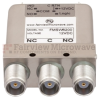 SPDT Failsafe DC to 10 GHz Electro-Mechanical Relay Switch, Indicators, TTL, Diodes, 50W, 12V, TNC -- FMSW6200 - Image