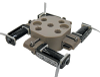 Miniature Inert 4-Valve Manifold -- KV-2-4MFG-12V - Image