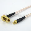 MMCX Plug to RA SMC Plug Cable RG-316 Coax in 12 Inch and RoHS -- FMC0928315LF-12 -Image