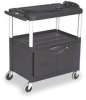 Cart with Cabinet,33Hx32 3/4W,Black -- 9T29 00 BLACK - Image