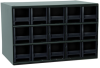 Akro-Mils 19 Gray Powder Coated Steel 24 ga Stackable Heavy Duty Versatile Cabinet - 11 in Overall Length - 17 in Width - 11 in Height - 15 Drawer - Non-Lockable - 19715 BLACK DRAWER -- 19715 BLACK DRAWER - Image