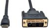 Mini HDMI to DVI Cable, Digital Monitor Adapter Cable (Mini HDMI to DVI-D M/M), 1080P, 3-ft. -- P566-003-MINI -- View Larger Image