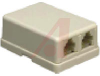DUAL MODULAR SURFACE JACK, 4 CONDUCTOR,IVORY -- 70159813 -- View Larger Image