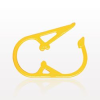 Pinch Clamp, Yellow -- 13608 -Image