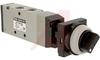 Valve, 5 port, manual actuator - black twist selector, 1/4 in. NPT, gas valve -- 70070671
