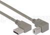 Right Angle USB Cable, Left Angle A Male/Down Angle B Male, 4.0m -- CA90LA-DB-4M