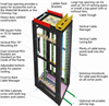 45U Server Cabinet M6 Mesh-Front, Black -- EC45U2436SMMS6NK -- View Larger Image