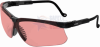 Uvex Genesis Safety Glasses with Black Frame and Vermillion -- s3210x