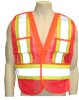 Wasip 58018XL Tear Away 5 Point Safety Vest Orange Size XL -- VESTTEAORAXL