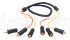 3 Line Audio Video RCA Cable, RCA Male / Male, 9.0 ft -- CCR3MM-9