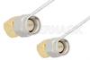 SMA Male Right Angle to SMA Male Right Angle Cable 24 Inch Length Using PE-SR047FL Coax -- PE34209-24 -Image