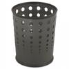 Bubble Wastebasket, Round, Steel, 6 gal, Black -- 9740BL