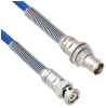 Halogen Free Cable Assembly TRB 3-Slot Plug to Non-Insulated Bulk Head 3-Lug Cable Jack with Bend Reliefs MIL-STD-1553 .242