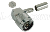 Type N Male Crimp Right Angle for RG223 Cable -- BAC533