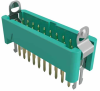 10+10 Pos. Male DIL Vertical Throughboard Conn. Latches (T+R) -- G125-MV22005L2R -- View Larger Image