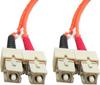 2m SC-SC Duplex Multimode 62.5/125 Fiber Optic Cable (6.56ft) -- 60SC-SC02