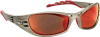 3M Fuel Safety Glasses with Metallic Sand Frame and Red -- 11640