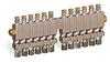 "Multiple Sight Feed Valve, 12 Valves, 1/8"" Female NPT Inlet, (12) 1/4"" OD Tube Outlets -- B3150-12 -Image"
