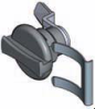 Handle & Wing Knob Quarter Turn Latch -- Low Profile Series - Image