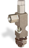 """(Formerly B1628-13X-TP), Angle Small Sight Feed Valve, 1/8"""" Female NPT Inlet, 5/16""""-24 Female Outlet, 1/2""""-20 Remote Mounting, Tamperproof -- B1628-116B1TW -- View Larger Image"""