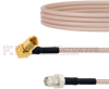 SMA Female to RA SSMC Plug Cable RG316 Coax in 12 Inch -- FMCA1469-12 -Image